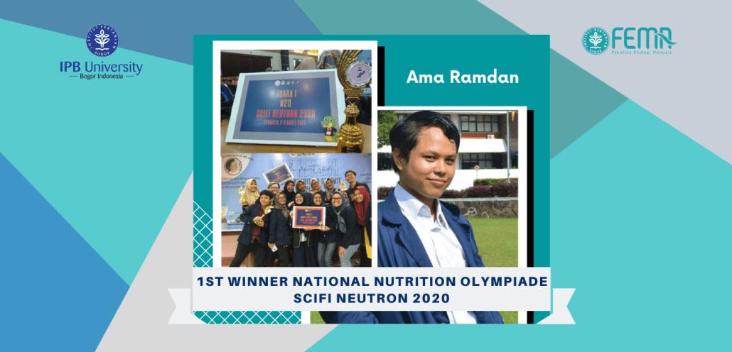 The Winner National Nutrition Olympiade Scifi Neutron 2020 Departemen Gizi Masyarakat