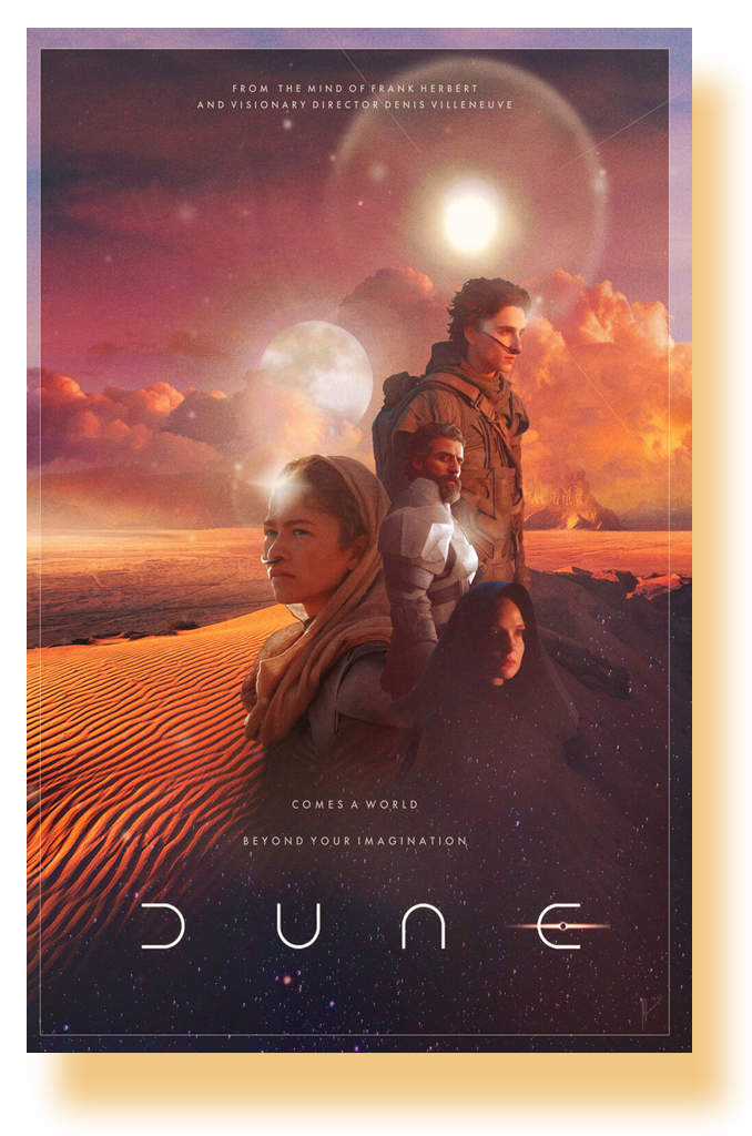 Dune Poster 2021 Movie Timothee Chalamet 2d 11 X 17 Usa Sameday Ship Concertposter Org
