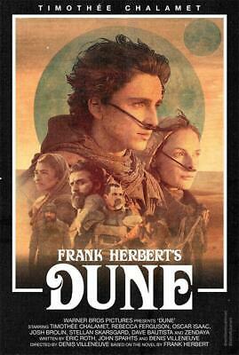 Sci Fi Adventure Film Dune 2021 Movie Poster 18x12 30x20 36x24 Ebay